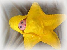 capullo a estrellas de mar manta del bebé por TinasHandicraftGr