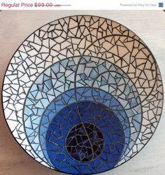 50% OFF The Blues - Stained Glass Mosaic Platter