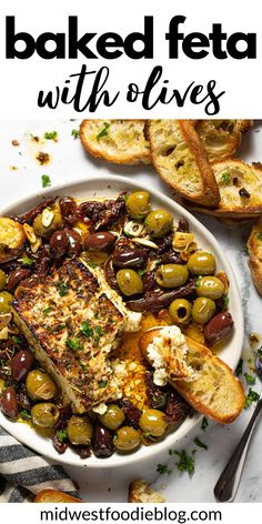 Yummy Appetizers, Appetizer Recipes, Snack Recipes, Snacks, Baked Feta Recipe, Cooking Recipes, Healthy Recipes, Healthy Fats, Healthy Choices