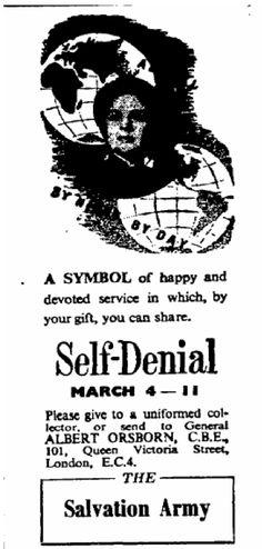 Salvation Army. 23 January, 1957