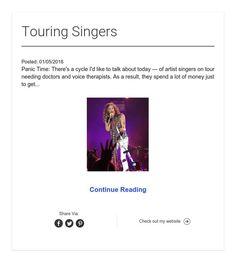 Touring Singers