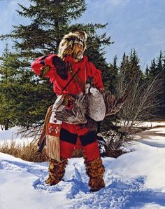 Mountain Man Ready For Another Day. (by PAUL CALLE). ...looks like Marty, if he'd lived 200 years ago!  lol!
