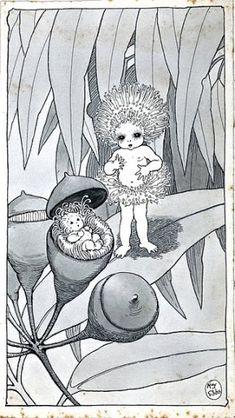 Book Illustrations - May Gibbs Vintage Fairies, Vintage Mermaid, Mermaid Art, Bebe Nature, Book Illustrations, Illustration Art, Felt Fairy, Baby Tattoos, Australian Art