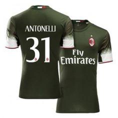 0b6689930 Blue ShopMilan AC Milan 16-17 Season Third Green 31 Antonelli Soccer Jersey  H56 ...