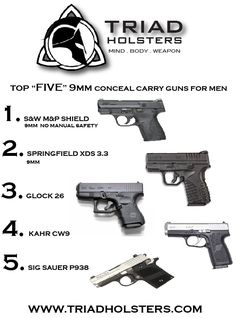 Top Five Conceal Carry Guns for Men-- Xmas is coming :-)
