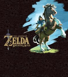 The Legend of Zelda: Breath of the Wild official rider Link art and logo!!!