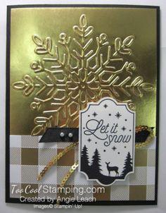 Year of Cheer Metallic Snowflakes - gold Christmas 2017, Christmas Greetings, Holiday Cards, Christmas Cards, Christmas Decorations, Xmas, Christmas Ideas, Snowflake Cards, Snowflakes