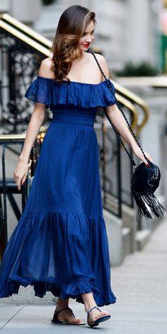 15 Outstanding Outfit Ideas, Courtesy Of Street Style All-Star Miranda Kerr Estilo Miranda Kerr, Miranda Kerr Street Style, Street Style Looks, Beautiful Dresses, Nice Dresses, Summer Dresses, Summer Outfit, Moda Retro, Moda Casual