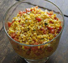 Light Summer Corn Salad (Recipe) @Piera -- Jolly Mom