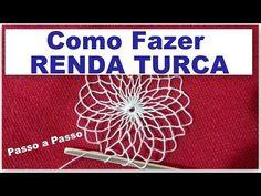 RENDA TURCA #FAZENDO RENDA PASSO A PASSO - AULA 1 - YouTube Loom Knitting Patterns, Tatting Patterns, Crochet Patterns, Filet Crochet, Irish Crochet, Knit Crochet, Craft Tutorials, Sewing Tutorials, Net Making