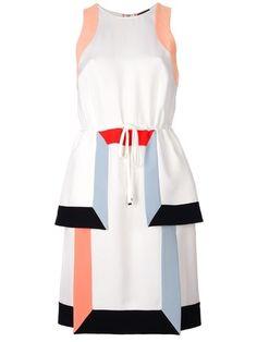 FENDI sleeveless drawstring dress