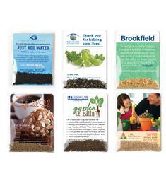 Personalized Vegetable Herb Seed Packets   USA Made   Recycled