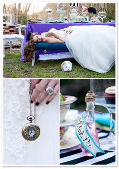 Alice in Wonderland style shoot. The white rabbit is even there!