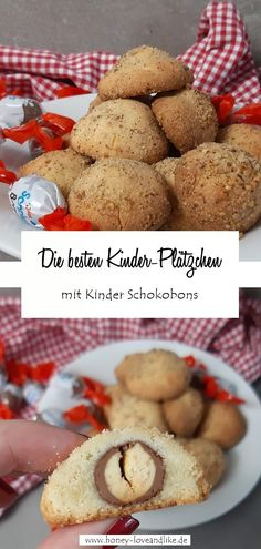 Children's chocolate biscuits in cookie dough - baking with chocolate candies Chocolate Bonbon, Chocolate Brownie Cookies, Chocolate Biscuits, Chocolate Candies, Caramel, Baking With Kids, Cupcakes, Cookies Policy, Chef Recipes