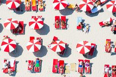 Miami Red and White Umbrellas