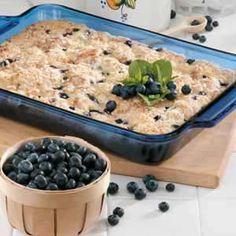 Blueberries 'N' Cheese Coffee Cake Recipe | Taste of Home Recipes