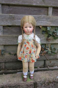 Antike Käthe Kruse Puppe gr. deut. Kind Mädchen Ilsebill, ca 50cm