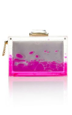 Pink Snow Globe Clutch by Kotur for Preorder on Moda Operandi