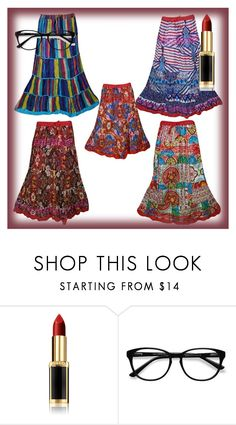 Women FAshion Style Long Skirts by lavanyas-trendzs on Polyvore featuring EyeBuyDirect.com and L'Oréal Paris   #skirts #women #longskirts #maxiskirts #boho #bohemian #summer #casual #westernwear