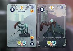 Cerebria: The Inside World Game Card Design, Bg Design, Board Game Design, Layout Design, Senior Games, Game Gui, World Images, Game Concept, Video Game Art