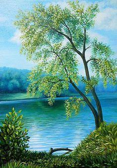 На берегу реки - Схемы вышивки - Miss_Ikss - Авторы - Портал «Вышивка крестом»