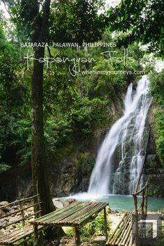 Philippines - My Bataraza, Palawan experience did not just stop in discovering Lalatuan Falls because apparently, it has one more awesome site waiting for me that day and that is Kapangyan Falls. Amazing Destinations, Travel Destinations, Travel Guides, Travel Tips, Philippines Travel, Palawan, Best Places To Travel, Asia Travel, Southeast Asia