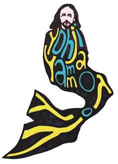 Yohji Yamamoto wearing Yohji Yamamoto (color remade version)   #yohjiyamamoto #yamamoto #hubertkolodziejski #kolodziejski #art #fashion #illustration #fashionillustration #dark #shade #asvoff #reikawakubo #commedesgarcons #y3 #creepy #black #ink #marker #sketch #graphic #drawing #graphicdesign #inspiration #typography #mermaid #tail #monster #doverstreetmarket #funny