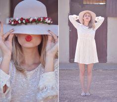 Vestido, chapéu e sapatilha   @Erika Silva Orna - Julia Alcântara