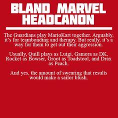 "Bland Marvel Headcanon ""I am NOT a Princess!""...unless we're playing Mario Kart"