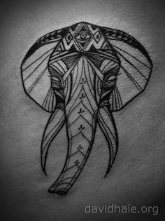 Elephant Tattoo by David Hale - Tattoo Lust Leftovers: Part XXVI | Fonda LaShay // Design → more on fondalashay.com/blog