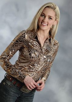 roper-womens-shiny-gold-cheetah-print-ls-western-show-shirt