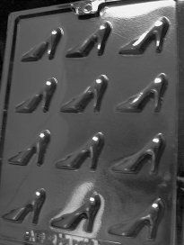 Bite Size High Heel Shoes Chocolate Candy Mold ... use for other things too like ice cubes, or home made sugar cubes, or jello, or home made butters