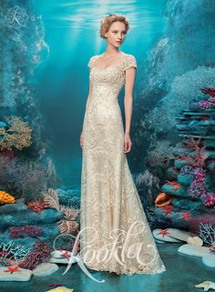 Wedding dress by Russian designer Tatiana Kaplun $1100.00 only in Charme Gaby Bridal dresses boutique