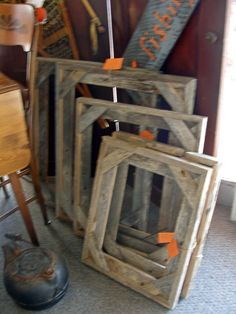 Old Barn Wood repurposed into Picture Frames!  Contact us if you want some made just for you - 870-283-1568