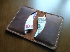 Hey, I found this really awesome Etsy listing at https://www.etsy.com/listing/185850374/leather-slim-credit-card-wallet-card