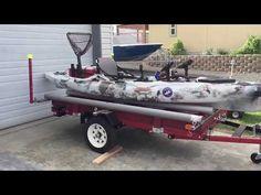 DIY Harbor Freight Trailer Inspiration - Go Travels Plan Jeep Camping Trailer, Kayak Trailer, Trailer Build, Expedition Trailer, Overland Trailer, Kayak Fishing, Fishing Boats, 4x8 Utility Trailer, Sailboat Trailer