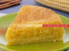 Receita de Bolo de milho cremoso  Cake corn mash