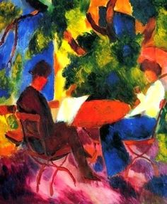 August Macke, an expressionist artist, a colorful work http://designmuitomais.blogspot.com.br/2014/12/august-macke-um-artista-expressionista.html