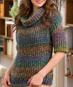 Painted Glass Sweater | AllFreeKnitting.com