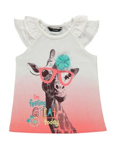 Giraffe Photo Print T-shirt | Girls | George at ASDA