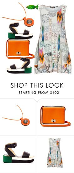 """""""Multicolour top"""" by ilona-828 ❤ liked on Polyvore featuring Hermès, Diane Von Furstenberg, Palomitas by Paloma Barceló and Twister"""