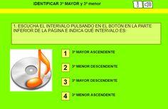 El Lenguaje Musical de Fátima: IDENTIFICAR AUDITIVAMENTE INTERVALOS DE 3º MAYOR y...