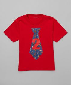 Look at this Beary Basics Red '2' Vintage Toy Necktie Tee - Infant, Toddler & Boys on #zulily today!