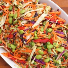Asian Slaw with Ginger-Peanut Dressing l Once Upon A Chef