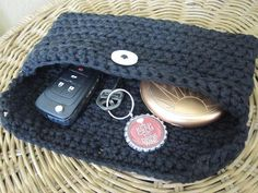 Classic Black Checkbook Clutch by iggychocs on Etsy, $5.50