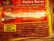 Turkey Bacon, 12 oz Package, 7 Packages-5lb //  Description Delicious Turkey Bacon.Easy to cook, healthy, great for breakfast //   Details   Sales Rank: #135736 in Grocery & Gourmet Food  Brand: Godshalls Dimensions: 5.00 pounds   Features  Turkey Bacon 7 12oz Packages 94% Fat Free No MSG Gluten Free Microwaveable  Legal Disclaimer Actual product packaging and materials may contain more and di// read more >>> http://Dodge722.iigogogo.tk/detail3.php?a=B0083WFV06
