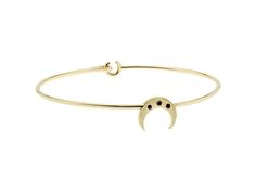The solid gold Crescent Moon bangle. The 'Keeper of Time' bangle.