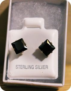 REVIEW: DarcusTori Square Black Onyx Earrings in Sterling Silver