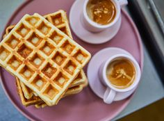 Waffles, Vegan Recipes, Food And Drink, Snacks, Breakfast, Cake, Street, Kitchen, Muffin