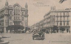 Nº 19476 POSTAL MELILLA PLAZA DE ESPAÑA Y CALLE ALFONSO XIII HAUSER Y MENET (Postales - España - Melilla Antigua (hasta 1939))